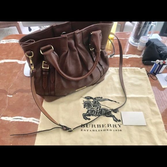 Burberry Handbags - Burberry Brown Leather Handbag- New Without Tags